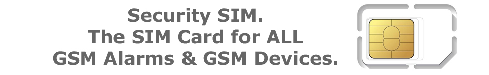 sim card for GSM alarm system